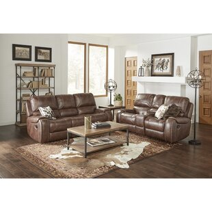 Stampley Leather Air Manual Reclining Living Room Set (Set of 2)