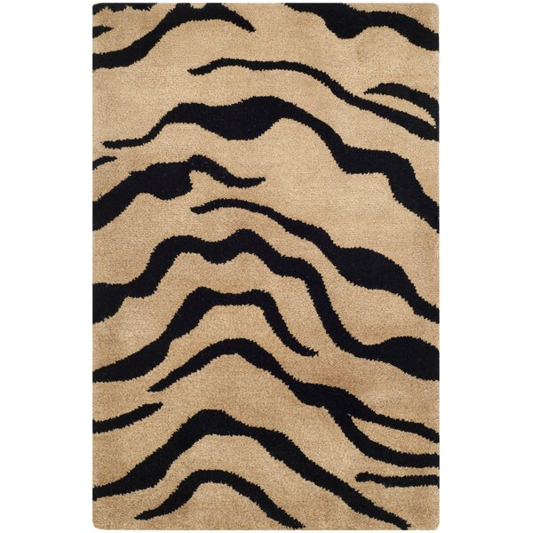 Dorthy Gold/Black Area Rug by Bloomsbury Market