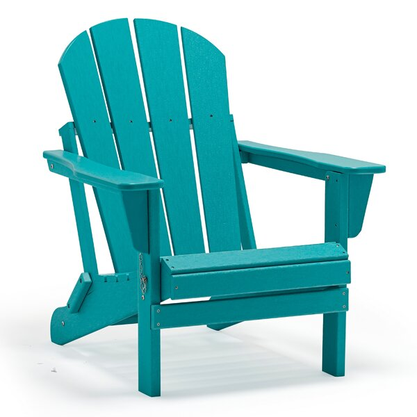 Lopes Resin Folding Adirondack Chair (Set Of 2) By Rosecliff Heights