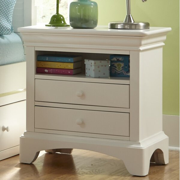 Crawfordville 2 Drawer Nightstand by Harriet Bee