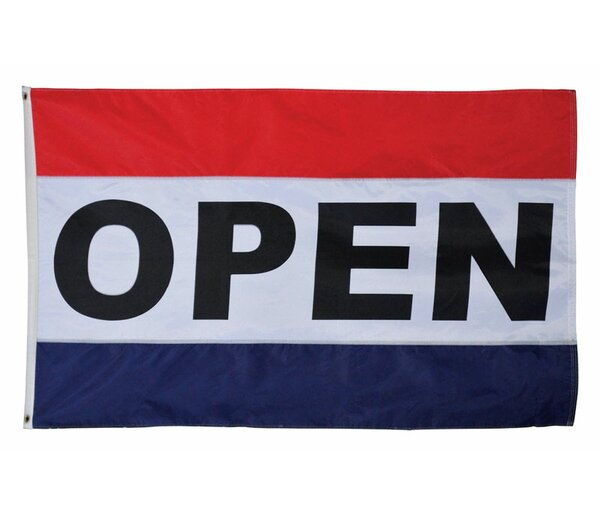 Open 2-Sided Polyester 3 x 5 ft. Flag by Valley Forge Flag