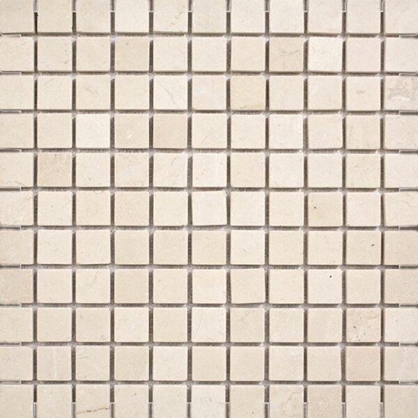 Crema Marfil Tumbled 1 x 1 Stone Mosaic Tile by Parvatile