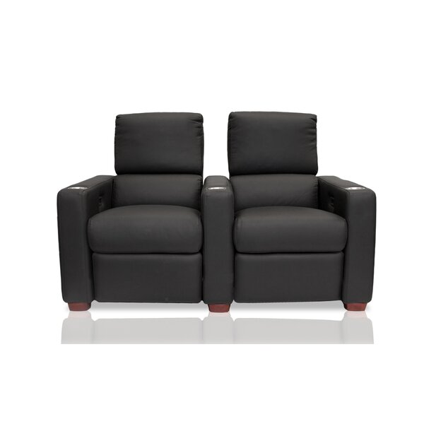 Penthouse Leather Home Theater Row Seating (Row Of 2) By Bass