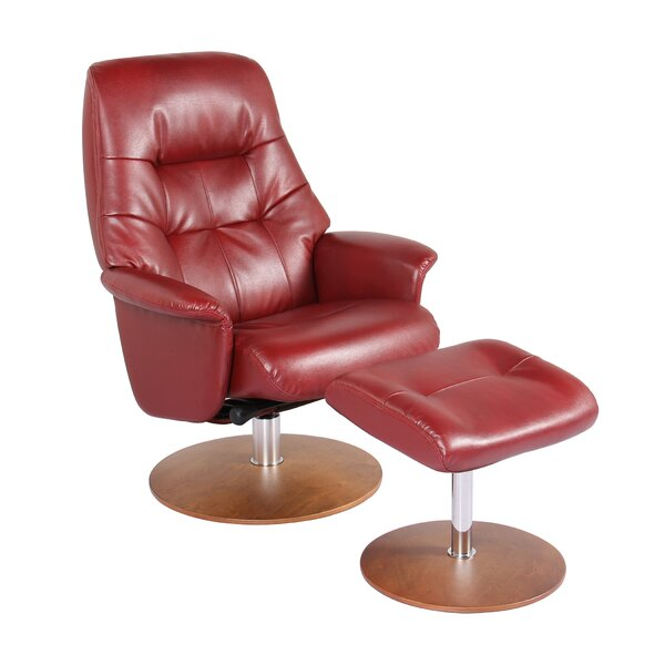 Fontanez  Manual Swivel Recliner with Ottoman by Latitude Run