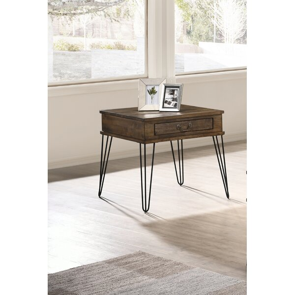 Schlueter End Table with Storage by George Oliver George Oliver
