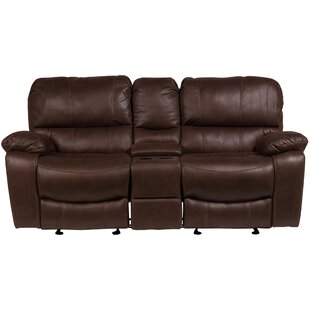Gracehill Modern Solid Reclining Loveseat Three Posts