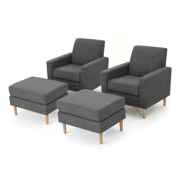 Ezequiel Armchair and Ottoman Set (Set of 2) by Langley Street