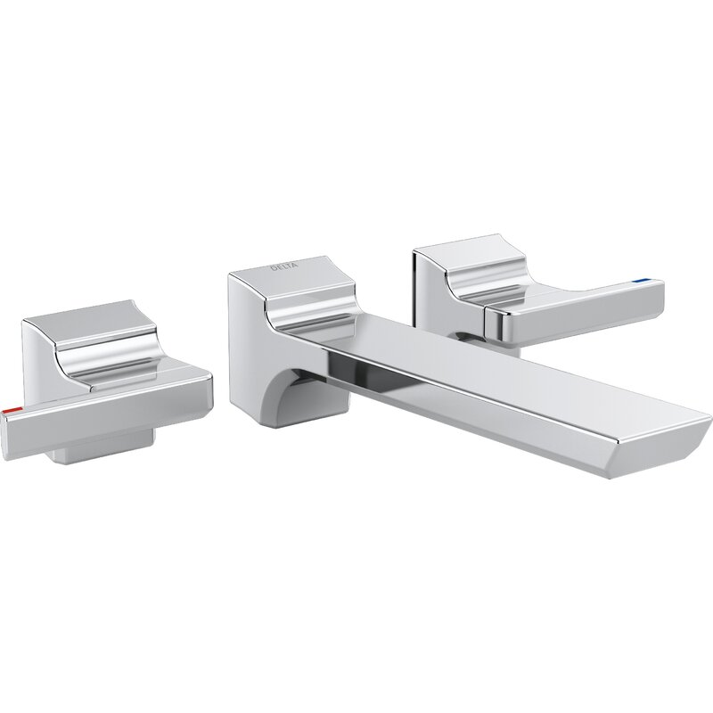 Delta Pivotal Double Handle Wall Mounted Tub only Faucet Trim | Wayfair