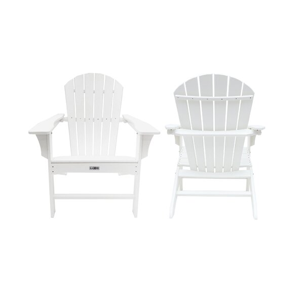 Corinne Poly Plastic Adirondack Chair (Set of 2) by Longshore Tides