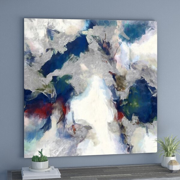 Explosive Shade Abstract Art Wrapped Canvas Print By Ivy Bronx.