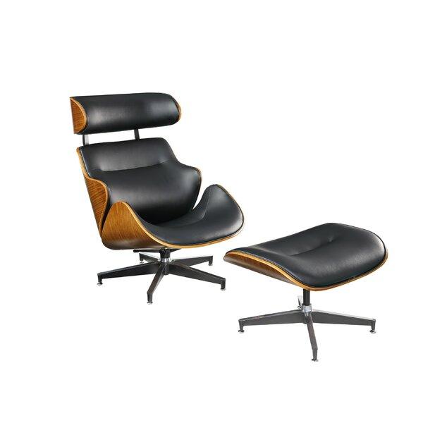 Brawley Swivel Lounge Chair and Ottoman by Corrigan Studio