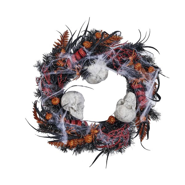 Halloween Skull 20 Wreath by The Holiday Aisle