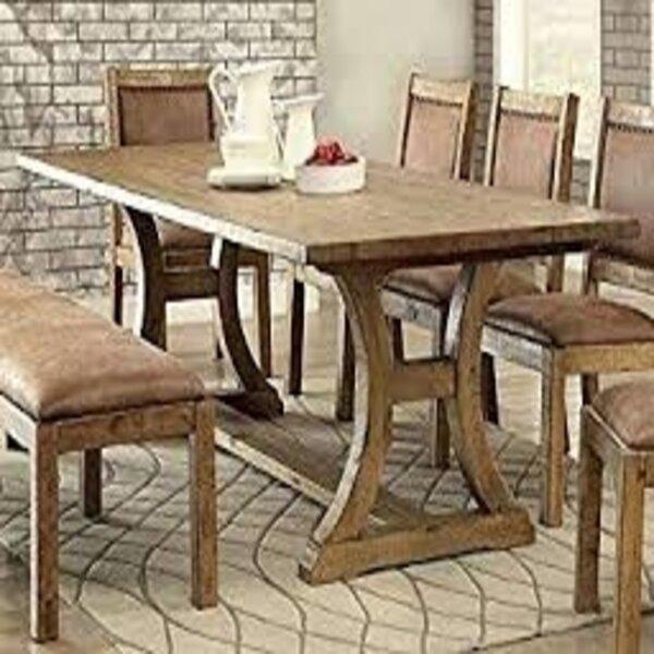 Silke Walnut Solid Wood Dining Table By Winston Porter
