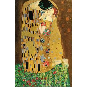 'The Kiss' by Gustav Klimt Painting Print on Wrapped Canvas by World Menagerie