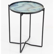 Cieslak Iron Glass End Table by Varick Gallery