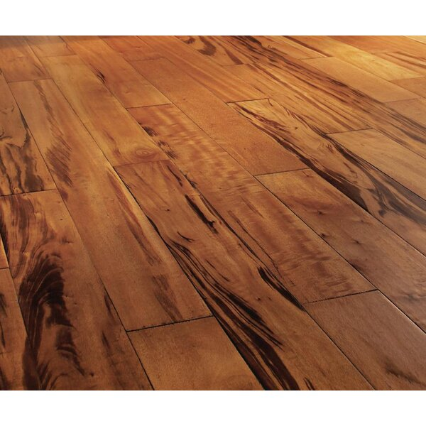 5 Engineered Tigerwood Hardwood Flooring in Tan by IndusParquet