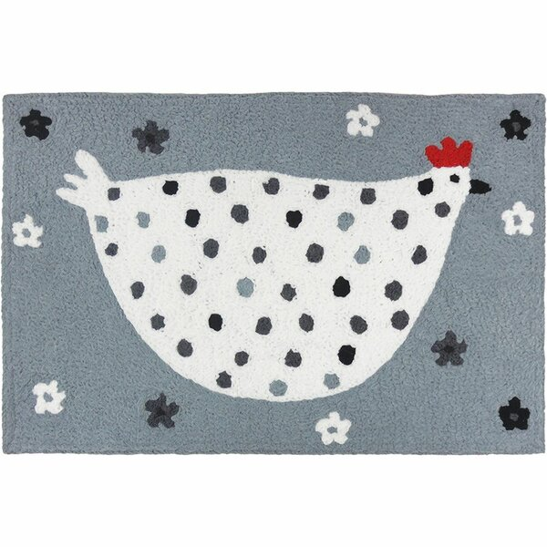 Mcglynn Cool Chick Hand-Tufted White/Gray Indoor/Outdoor Area Rug by August Grove