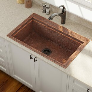 Copper 31 L X 20 W Drop In Kitchen Sink With Drain Embly