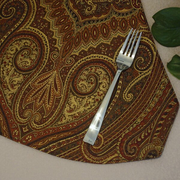 Prema Silk Paisley Reversible Wedge Placemat (Set of 2) by Pacific Table Linens