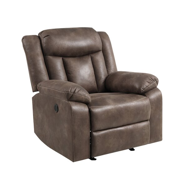 Oceola Faux Leather Power Glider Recliner W001045343
