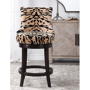 Harwick Tiger Print 27 Bar Stool