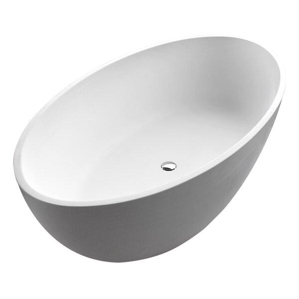 Cestino 66.5 x 36.4 Freestanding Soaking Bathtub by ANZZI