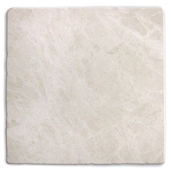 Valorem Tumbled 4 x 4 Marble Field Tile in Botticino by Travis Tile Sales