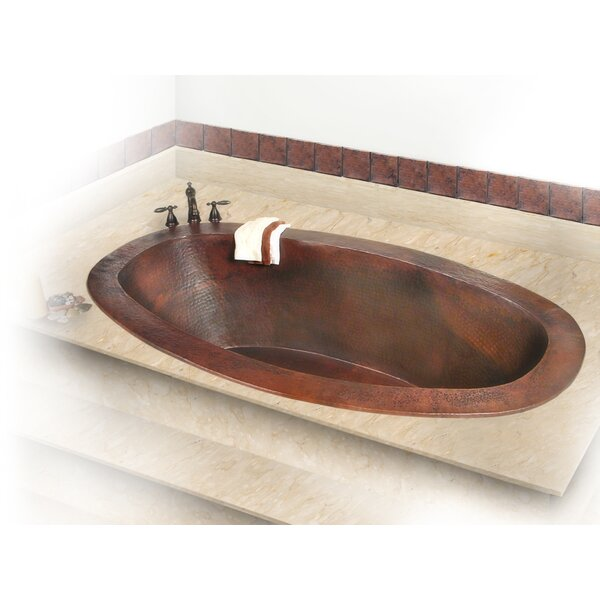 Roberta Copper 71 x 37 Large Self-Rimming or Undermount Bathtub by D'Vontz
