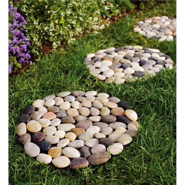 Rock Stepping Stone (Set of 3) by Plow & Hearth