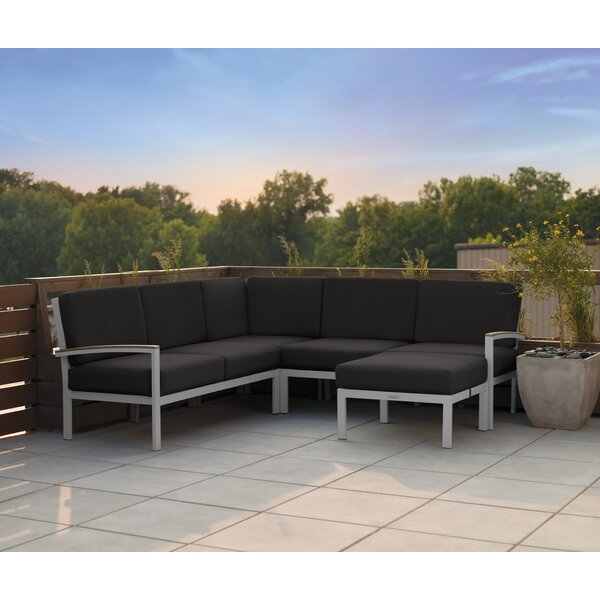 Laskowski Travira Patio Sectional with Cushions by Latitude Run