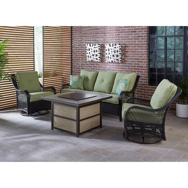 Albertson 4 Piece Woven Lounge Set by Bay Isle Home