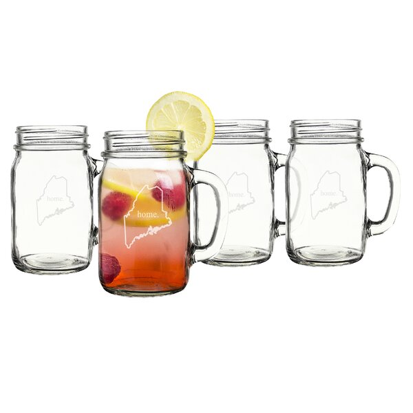 Home State 16 oz. Mason Jar (Set of 4) by Cathys C