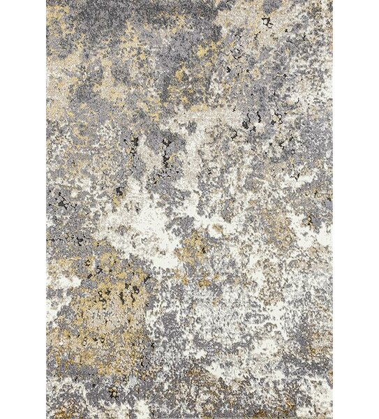 Chappell Abstract Ivory/Gray Area Rug by Williston Forge