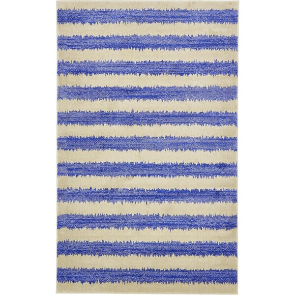Travis Blue/Beige Area Rug by Viv + Rae