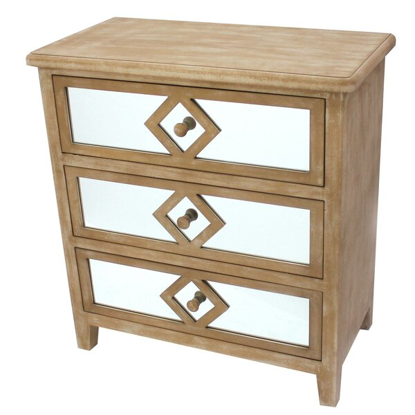 Hecker 3 Drawer Mirrored Accent Chest by Ophelia & Co. Ophelia & Co.