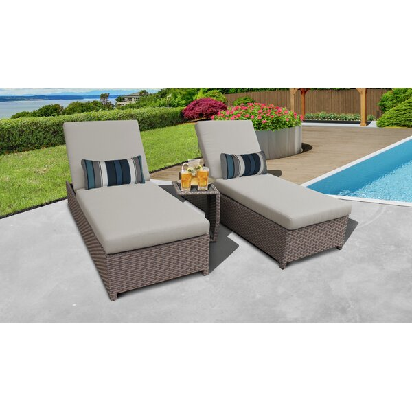 Meeks Sun Lounger Set with Cushion and Table