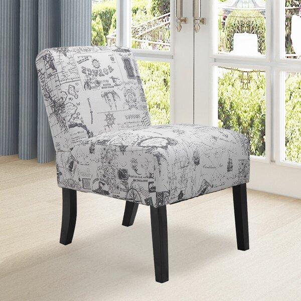 Aime Upholstered Parsons Chair in Beige by Breakwater Bay Breakwater Bay