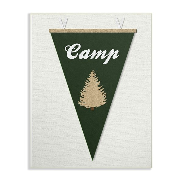 Farthing Camp Pennant Fabric Collage Decorative Plaque by Harriet Bee