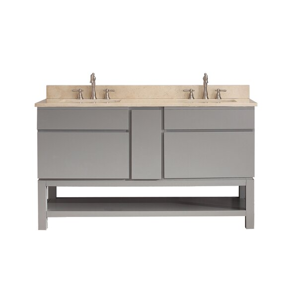 Warden 61 Double Bathroom Vanity Set by Alcott Hill