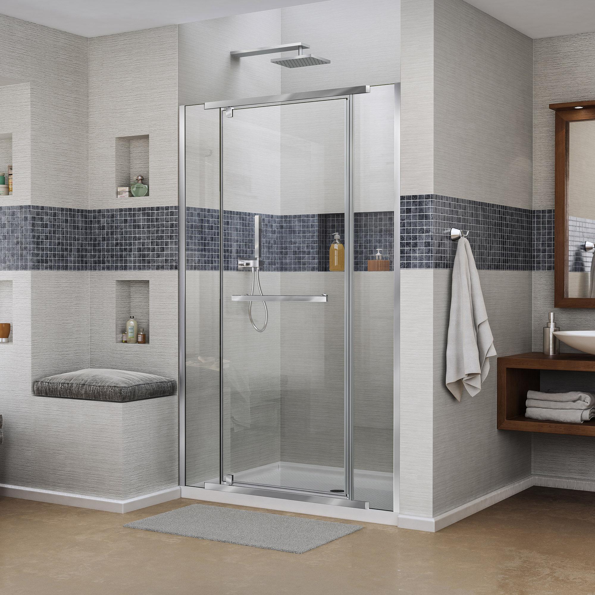 Dreamline Vitreo X 4675 X 72 Pivot Frameless Shower Door Wayfair