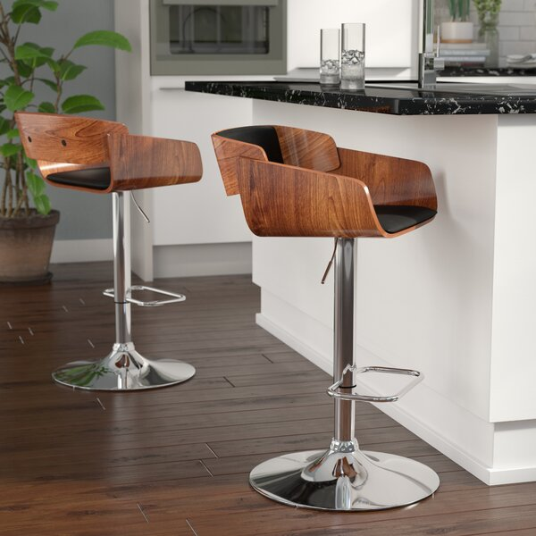 Mario Adjustable Height Swivel Bar Stool by Corrigan Studio