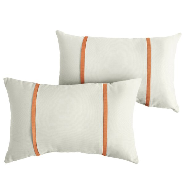 Fortin Indoor/Outdoor Sunbrella Lumbar Pillow (Set of 2) by Charlton Home