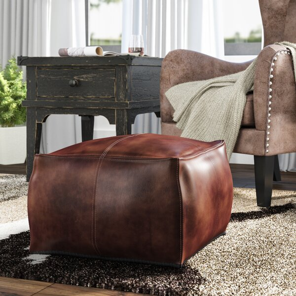 Trule Teen Leather Ottomans