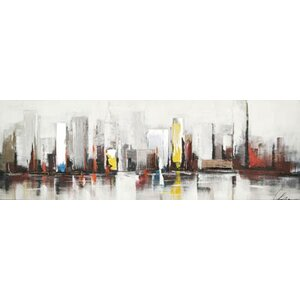 City by Claudia Painting on Wrapped Canvas by Hobbitholeco.