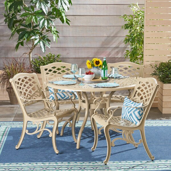 Lynx Outdoor 5 Piece Dining Set by August Grove