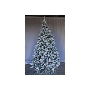 8u0027 snow flocked artificial christmas tree