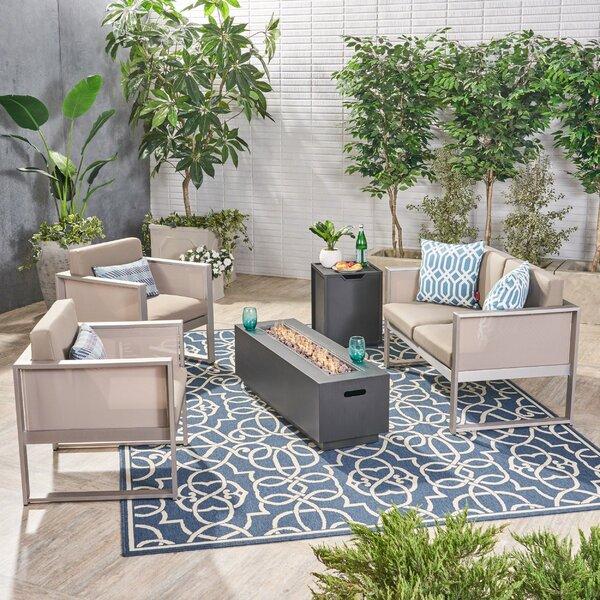 Hanish 5 Piece Sofa Seating Group with Cushions by Latitude Run