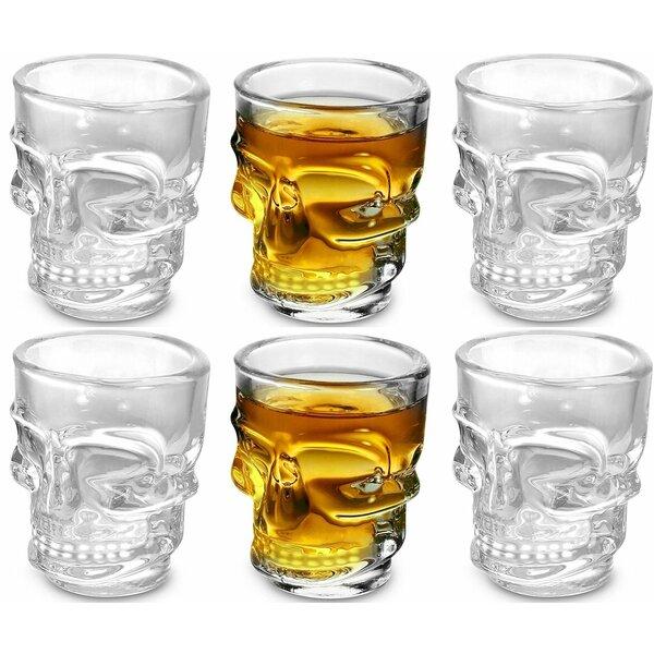 Lasher Skull 1.5 oz. Shot Glass (Set of 6) by Winston Porter