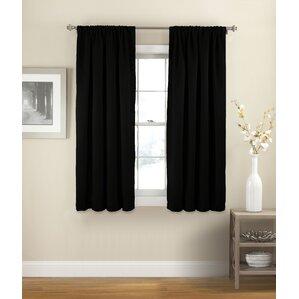 Vina Solid Room Darkening Thermal Rod Pocket Single Curtain Panel