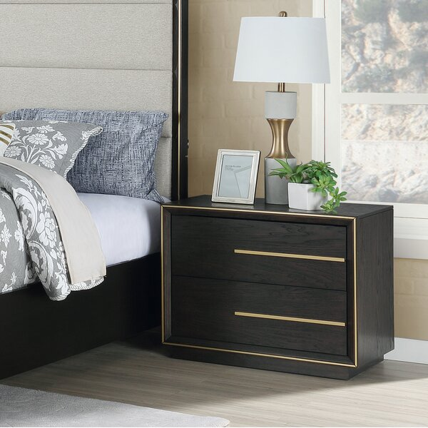Blairstown Wood 2 Drawer Nightstand by Everly Quinn